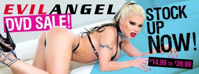 Buy Evil Angel porn DVDs on sale.