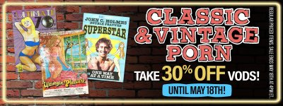 Buy classic porn videos at 30% off.