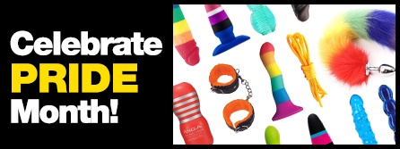 Browse sex toys for Pride Month.
