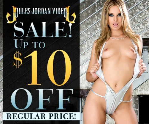 Save up to $10 off Jules Jordan DVD porn movies starring Jillian Janson and more.