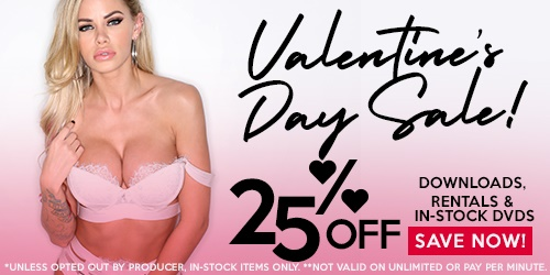 Valentine's Day Sale! 25% off all Downloads, Rentals & in-stock DVDs!