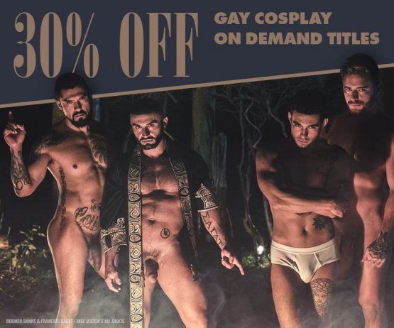 Gay Cosplay On Demand Sale Banner