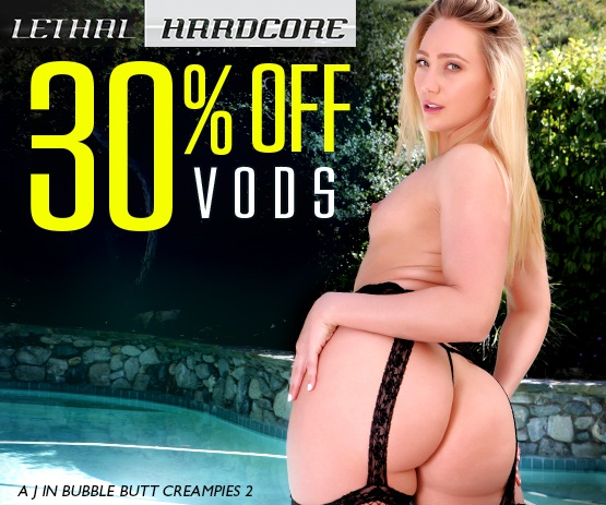 Save 30% on Lethal Hardcore VOD porn videos starring A.J. Applegate and more.