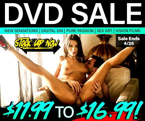 Don't miss the New Sensations, Digital Sin, Pure Passion & more DVD Sale today!