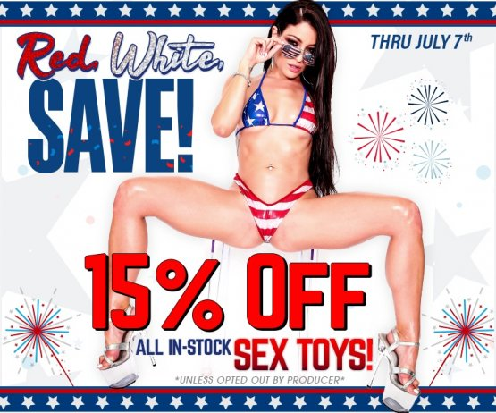 4th Of July In-Stock Sex Toy Sale Image
