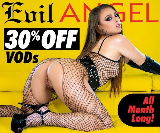 30% Off Evil Angel VODs Promotion Banner