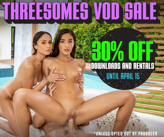 Threesomes Video On Demand Sale!