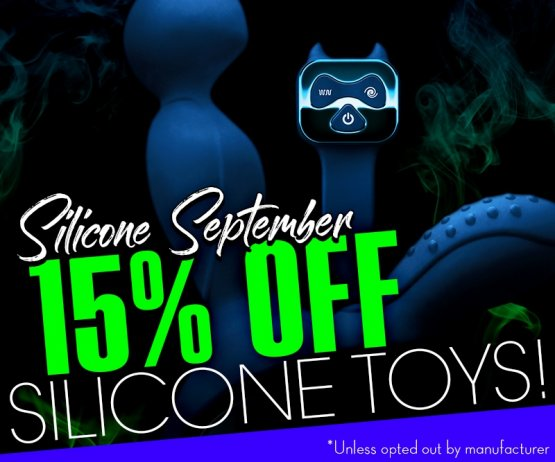 Silicone September - Save 15% Silcone Sex Toys Image