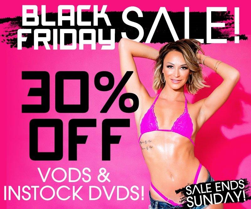 Take 30% off in-stock porn.