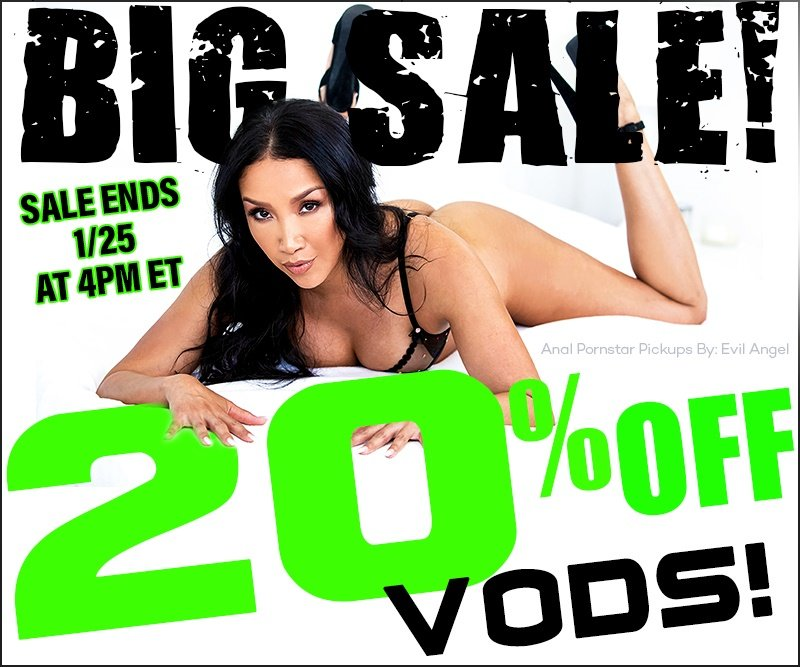 Take 20% off all porn videos.