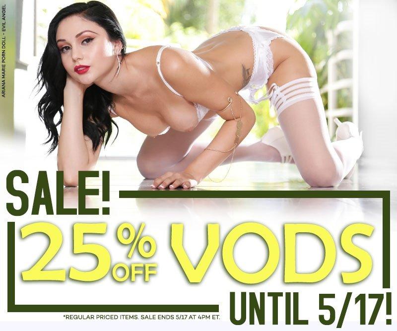 Take 25% off all porn videos.