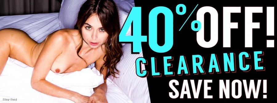 Shop clearance porn DVDs.