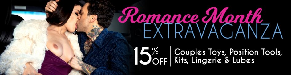 It's Romance Month! Save 15% off Couples Toys, Position Tools & more.