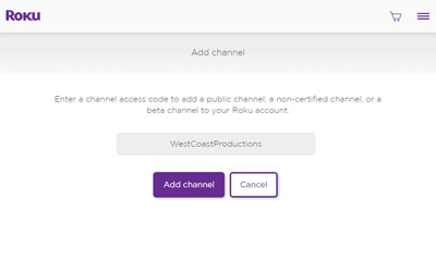 West Coast Productions Roku Channel Image