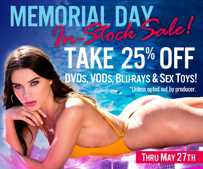Save 25% on In Stock DVDs, BluRays, and VODs this Memorial Day!