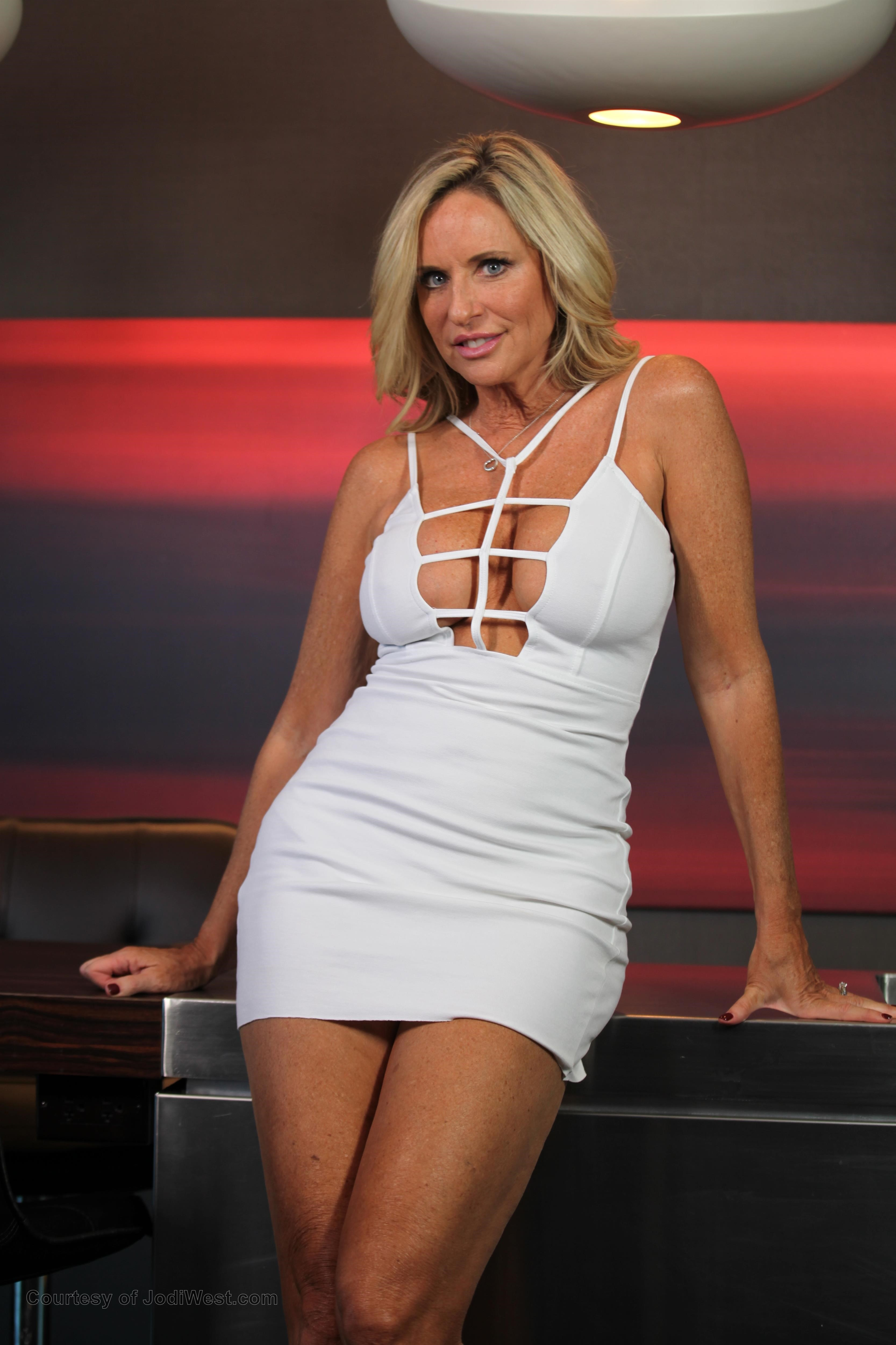 Jodi West In Sexy White Dress Image Gallery Photos Adult