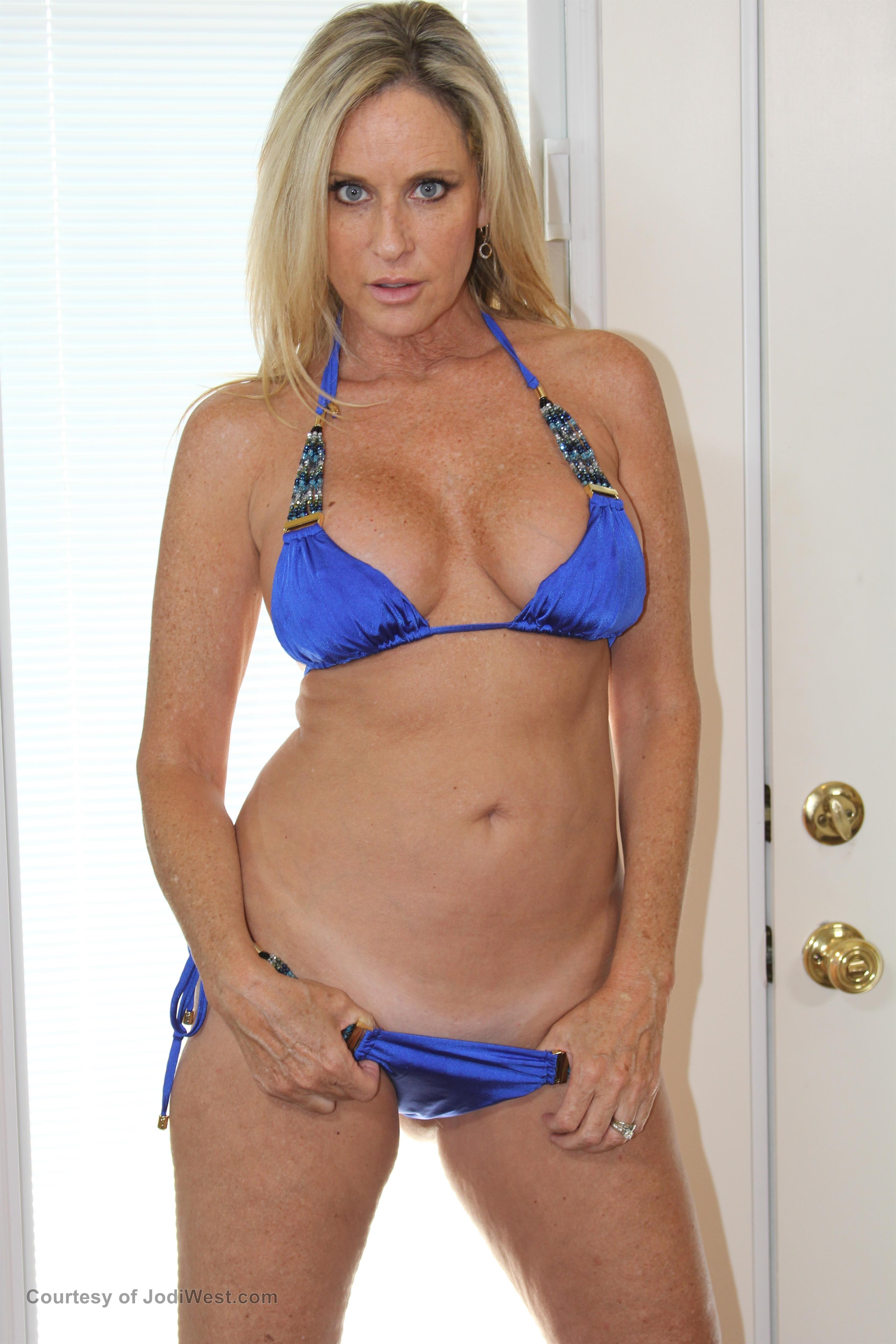 Jodi West Models Sexy Blue Bikini Image Gallery Photos -2918