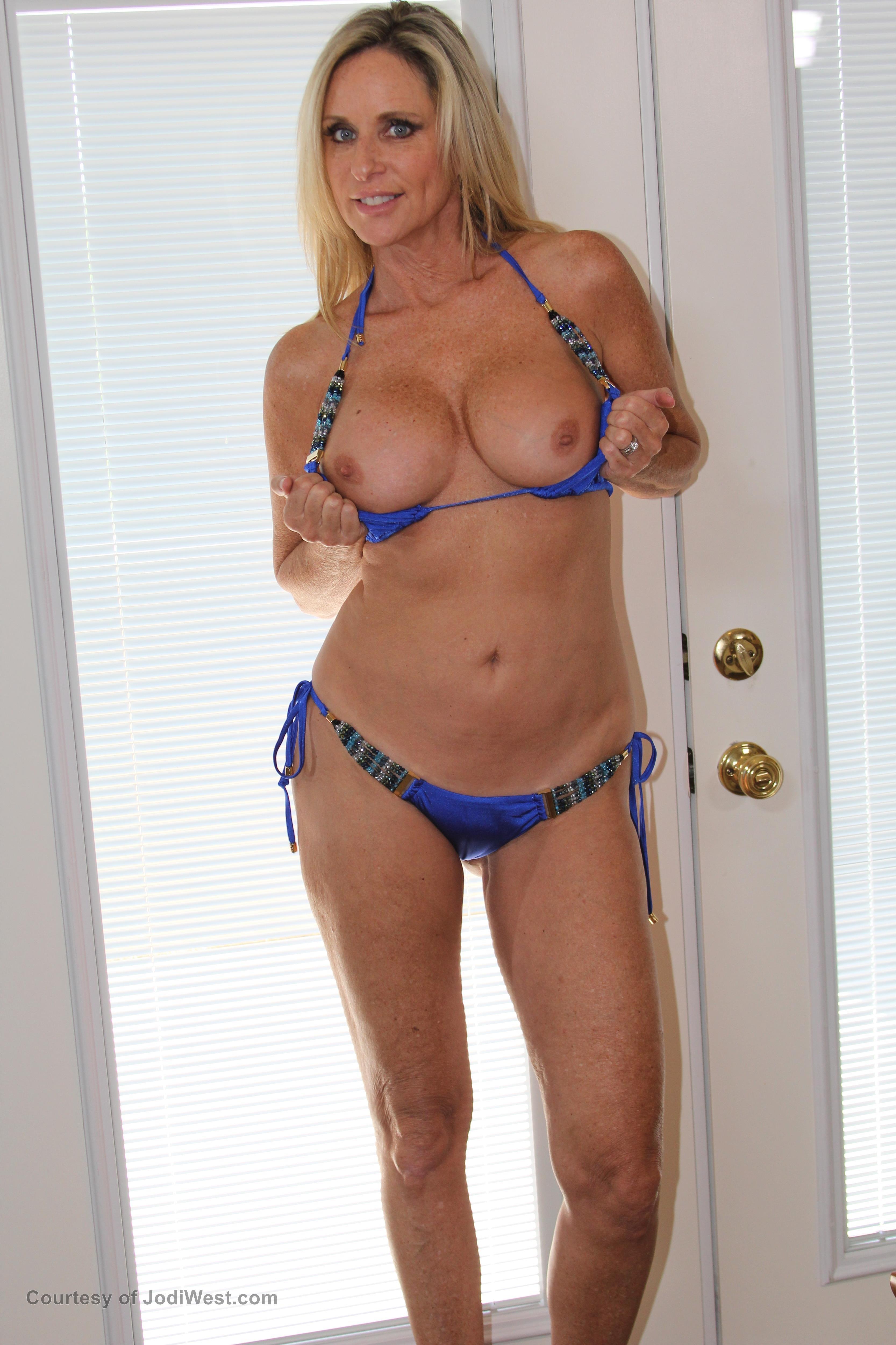 photos Blue bikini
