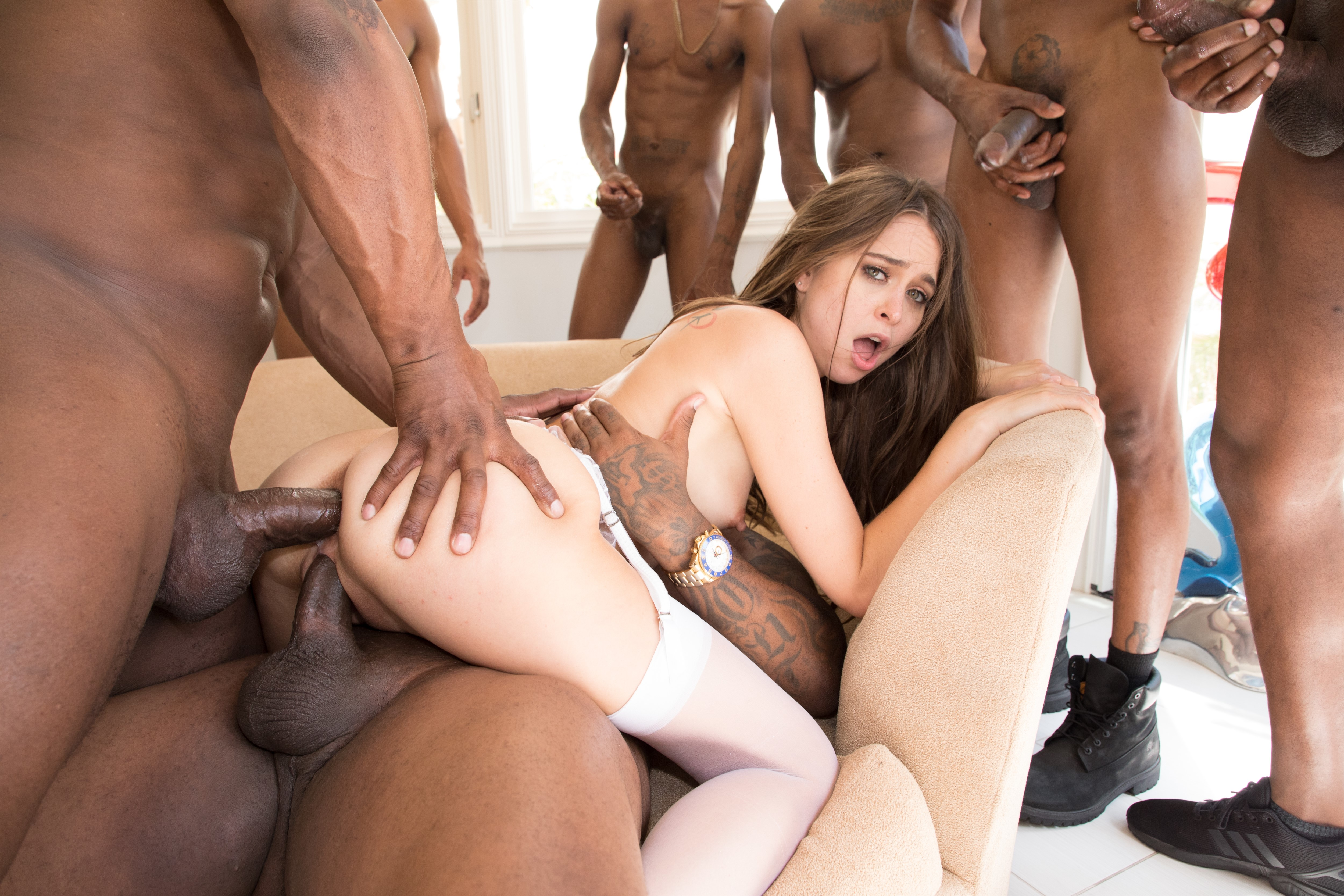 Seductive japanese thrills with blowjob during gangbang high quality porn photo
