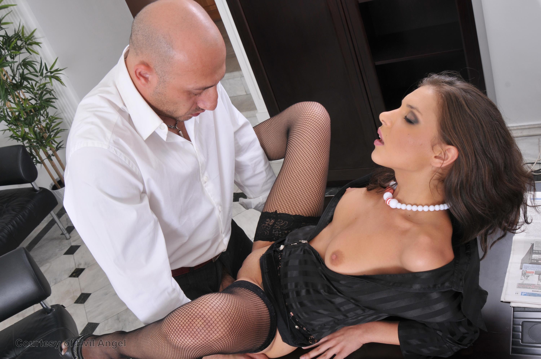 Leather Skirt Secretary Big Boobs Porn Part