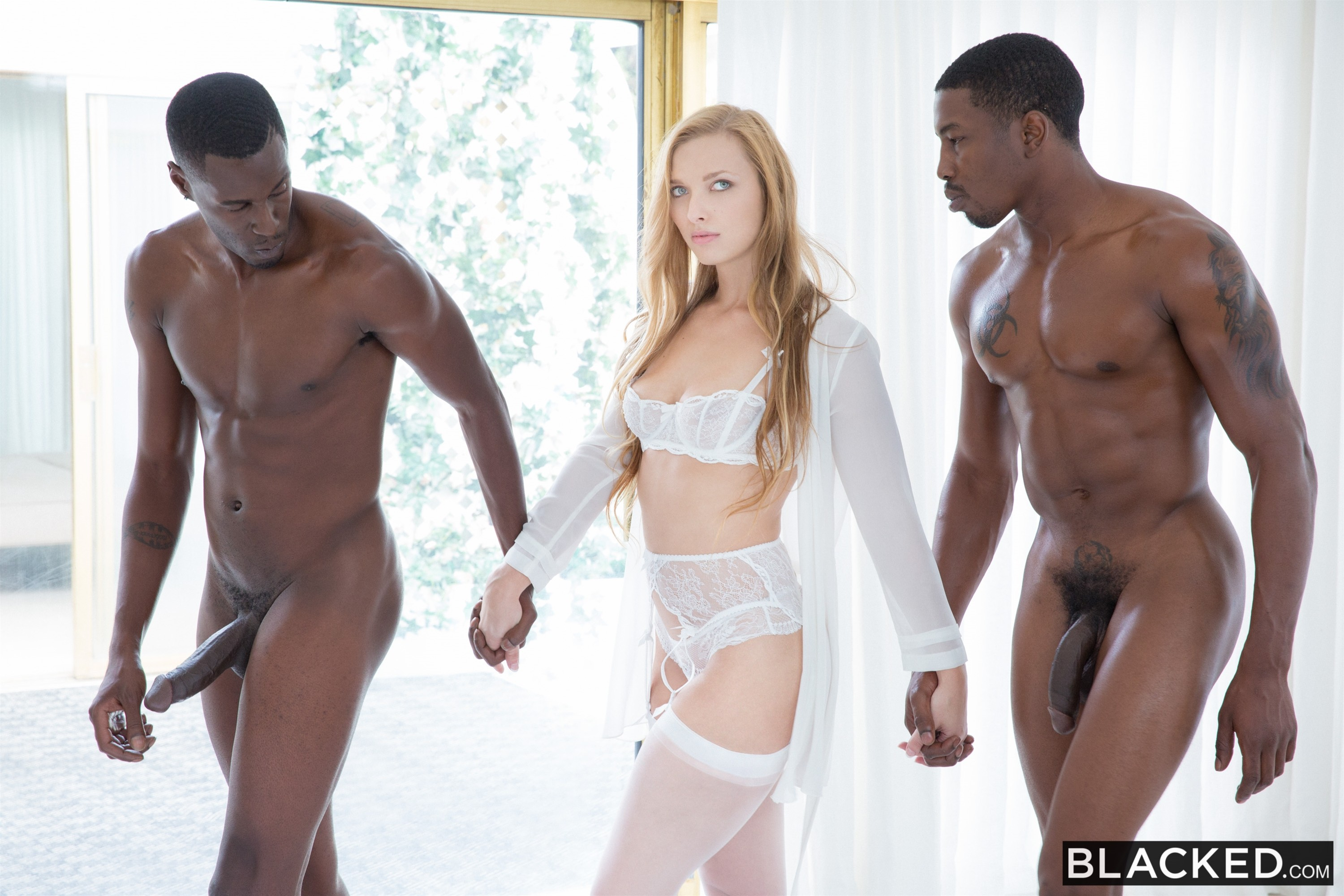 Reluctant interracial threesome