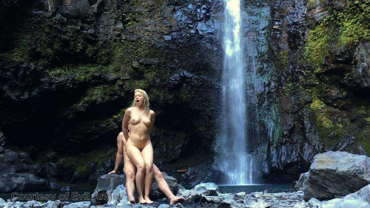 Waterfall sex video