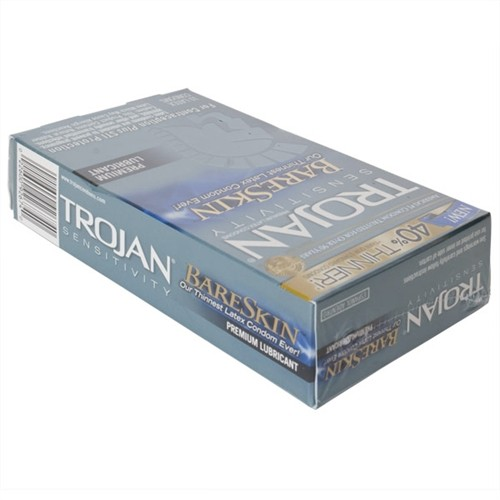 Trojan Sensitivity Bareskin Lubricated - 10 Pack  Sex -6080