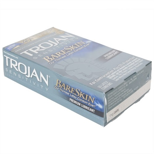 Trojan Sensitivity Bareskin Lubricated - 10 Pack  Sex -1981