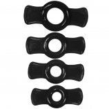 TitanMen Cock Ring Set - Black Product Image