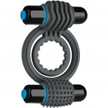 Optimale: Silicone Vibrating Double C-Ring - Slate Product Image