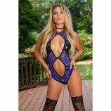 Exposed - Spellbound - Cutout Teddy with Snap Crotch - S/M Product Image