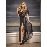 Exposed - Black Widow - Robe & G-Set - Queen Size Product Image