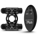 Performance Plus Double Thunder Wireless Remote Cock Ring - Black Product Image