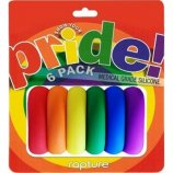 Pride Rainbow Silicone Cockring Six Pack Product Image
