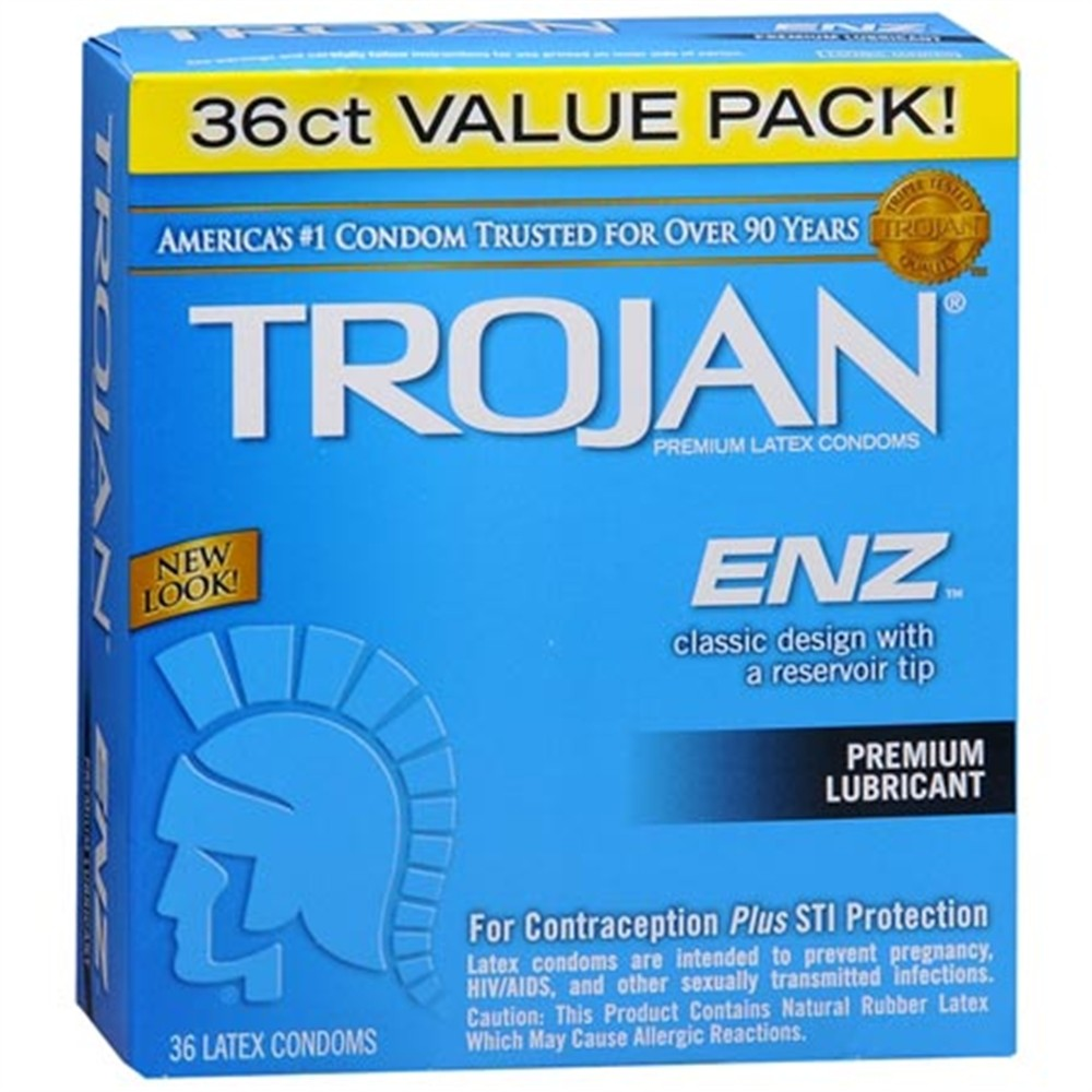 Trojan Enz Lubricated - 36 Pk  Sex Toys  Adult Novelties -8796