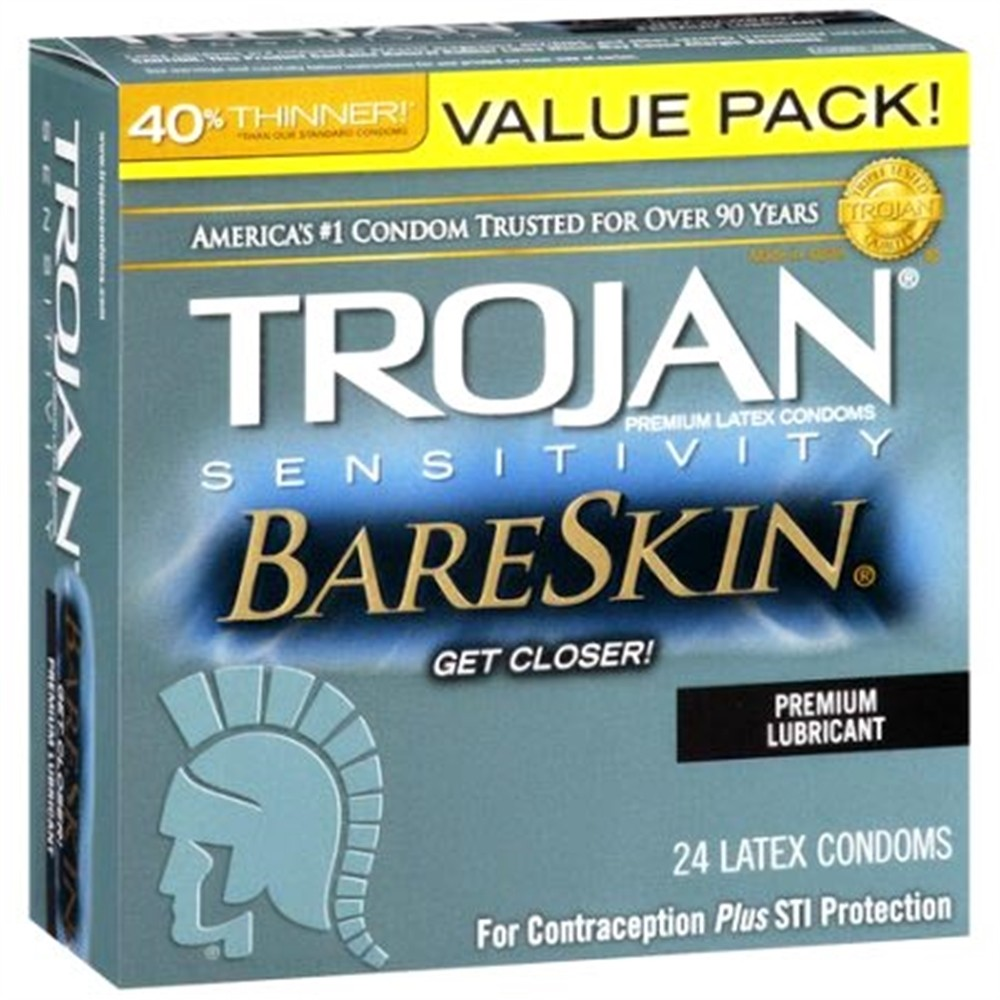Trojan Sensitivity Bareskin Condoms - 24-Pack  Sex Toys -8170