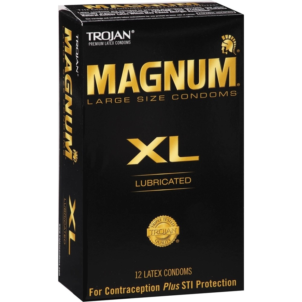 Trojan Magnum Xl Condoms - 12-Pack  Sex Toys  Adult -3164