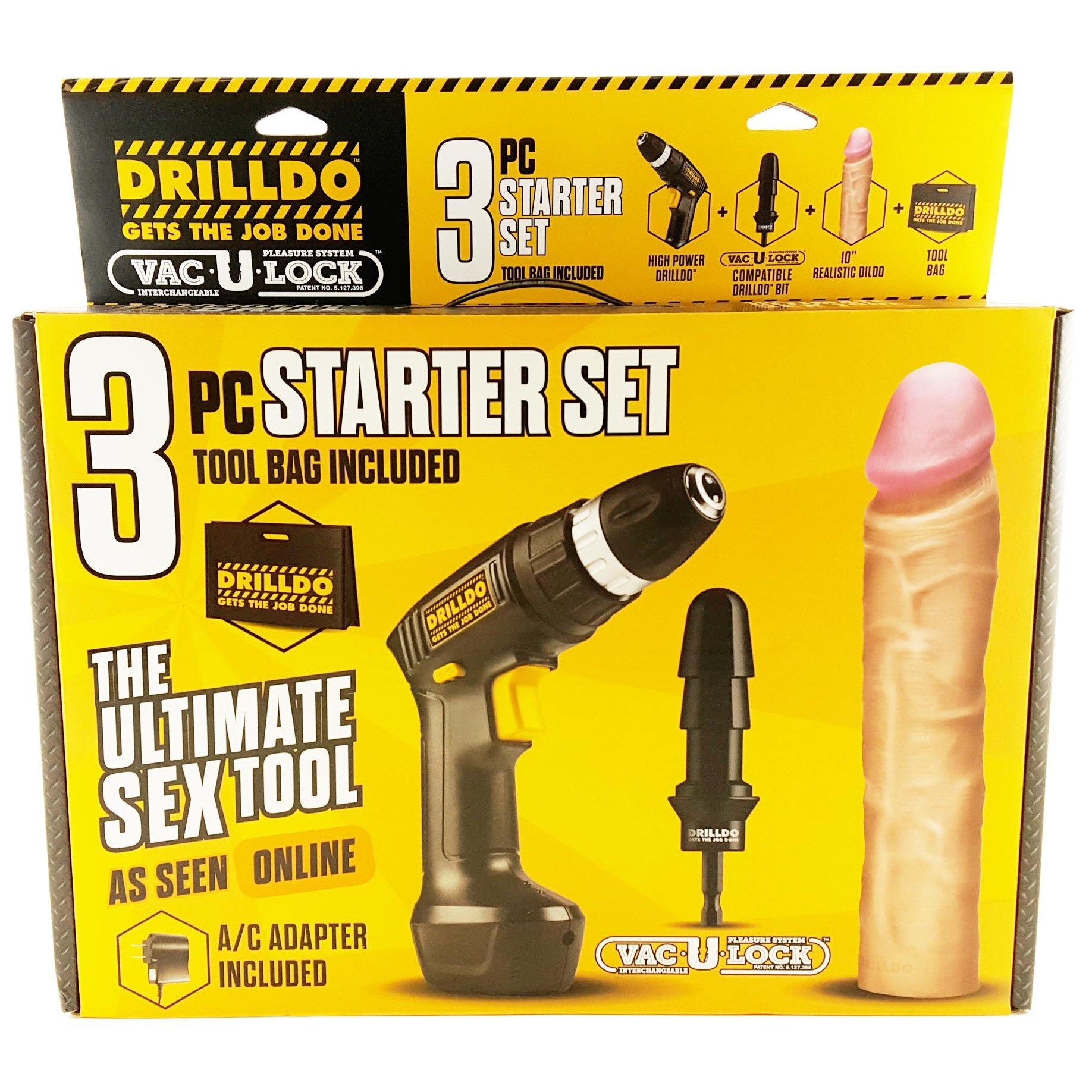 Drill dildo attachment