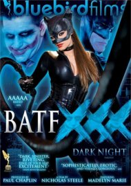 BATFXXX:  Dark Night Parody porn video from Bluebird Films.