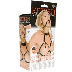 Fetish Fantasy O-Ring Gag With Nipple Clamps 11 Product Image