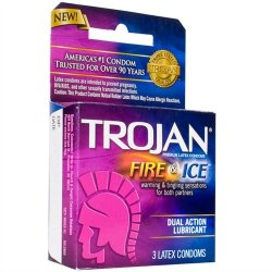 Trojan Fire & Ice Lubricated - 3 Pack 2 Product Image