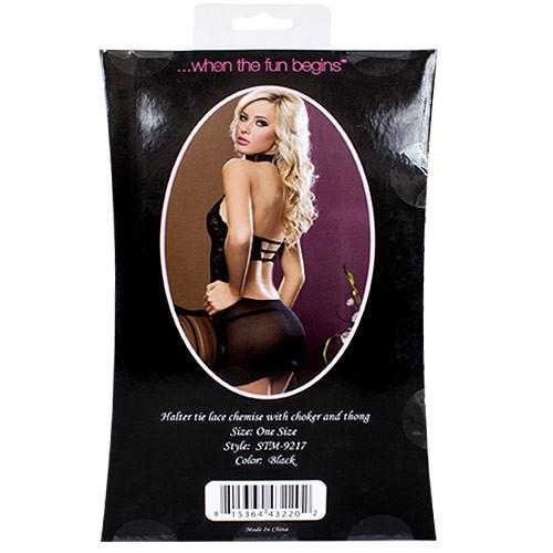 Midnight Affair Chemise Set - Black 4 Product Image