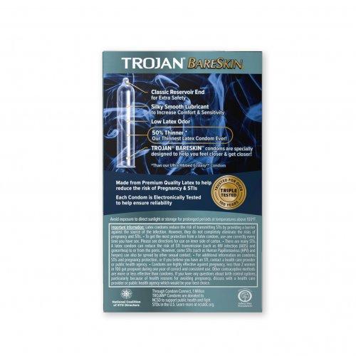 Trojan Sensitivity BareSkin Lubricated - 10 Pack 6 Product Image