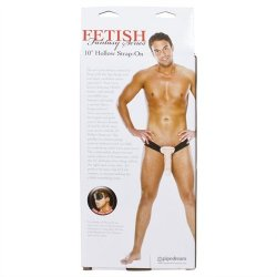 "Fetish Fantasy 10"" Hollow Strap-On - Flesh 10 Product Image"
