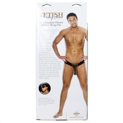 """Fetish Fantasy 10"""" Hollow Strap-On - Chocolate Dream 10 Product Image"""