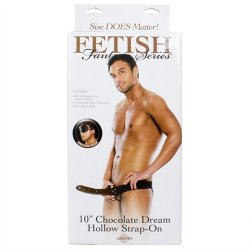 """Fetish Fantasy 10"""" Hollow Strap-On - Chocolate Dream 9 Product Image"""