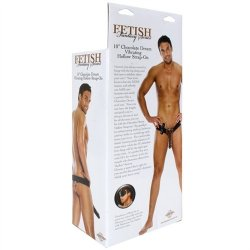 "Fetish Fantasy - 10"" Vibrating Hollow Strap-On - Chocolate Dream 10 Product Image"