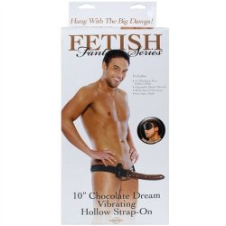 "Fetish Fantasy - 10"" Vibrating Hollow Strap-On - Chocolate Dream 7 Product Image"