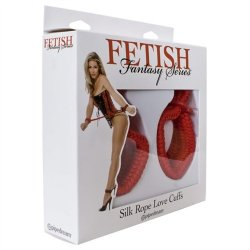 Fetish Fantasy Silk Rope Love Cuffs - Red 9 Product Image
