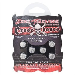 Crossbones - Alkaline LR44 Batteries - 6 pack 1 Product Image